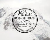 Mountain Save the Date Stamp
