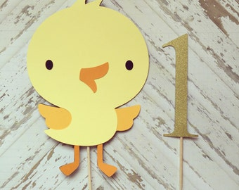 Chick Cake Topper- smash cake, first birthday