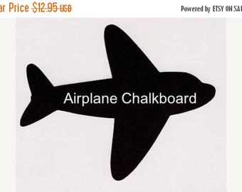 Buy 2 Get 1 FREE- Airplane Chalkboard Decal - 1 Large and 3 Small