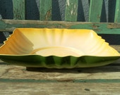Los Angeles Potteries vintage piece yellow and green