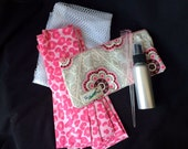24 Piece Rag Curls Set with Comb, Spray Bottle, and Travel Bag ~ Argyle Bloom ~ by Talulah Bean