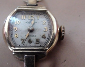 Waltham Premier Wind Up Watch 17 Jewels  Gold fill only the case not the Band  Ladies Wrist Watch Real 1930s