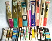Lot of Vintage White and Black Trims and Zippers
