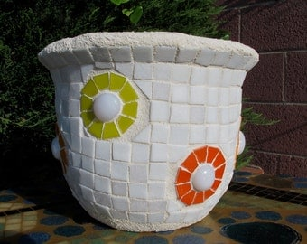 Recycled Mosaic Flower Pot