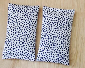 Modern Lavender Bags - Energizing Cobalt Blue Polka Dot - Organic Lavender Scent