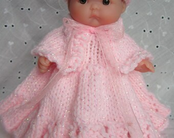Doll Clothing Knit Pattern Berenguer Baby Doll She's a Little Princess Set fits the 5 inch doll knitting pattern instant download