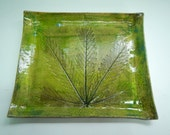 Marijuana Leaf Stoneware Tray