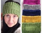 Knit Headband You Pick The Color Bohemian Headband Winter Fashion Knit Ear Warmer Boho Fashion Bohemian Knits Colorful Headband