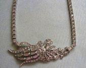 Vintage 1940's Sterling Otis Necklace, Sterling Otis Necklace, Sterling 1940's Choker Necklace