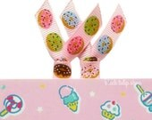 Ribbon Planner Clips Kawaii Donuts Pastel Sweet Paper Clips for Planner Accessories Personal Organizer Cute Doughnut Bookmarks - 2pc Set