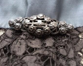 Victorian brooch of silver