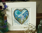 An original tiny watercolour painting  by Amanda Clark. ( Painting  no 71 ).