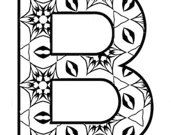 B  \ digital\single letter alphabet