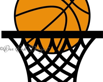 Basketball with Hoop SVG File PDF / dxf / jpg / png / eps / ai / for Cameo, for Cricut & other electronic cutters