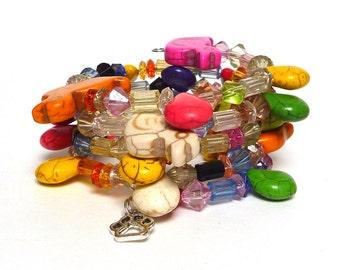 WHY, A DUCK! Coil Beaded Bracelet by Beading Divas Fundraiser