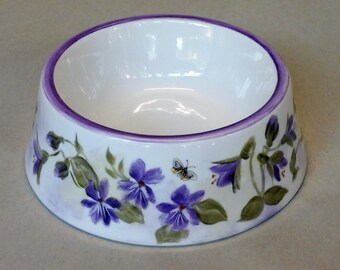 Purple Violet Spill Proof Pet Bowl Small