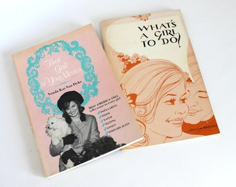 Vintage Young Women's Advice Paperback Book Set Dating Popularity Miss America
