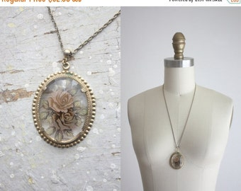 VACATION SALE. vintage still life necklace