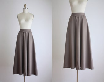 bronze wool midi skirt