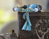 Bracelet été plage bohème nature zen