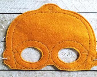 Children's C3PO Droid Star Wars Felt Mask