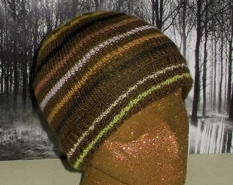 HALF PRICE SALE Instant Digital File pdf download Knitting Pattern- Small Stripe Beanie hat knitting pattern pdf download