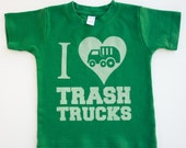 I Love Trash Trucks, Ink Free, High Quality, Free shipping, click for colors