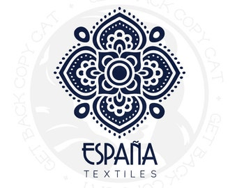 Premade Spanish Style Logo Design OOAK (Buy and Customize This Exact Design) NEVER Sold Twice!