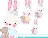Babby Bunny 2 cliparts - COMMERCIAL USE OK