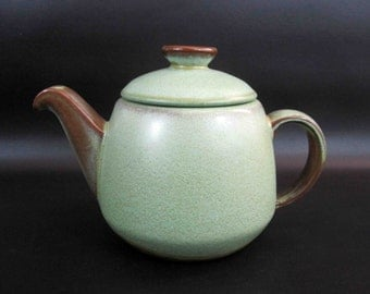 Vintage Frankoma Teapot in Prairie Green and Brown