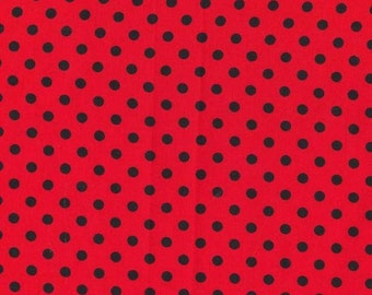 Michael Miller Fabric Dumb dot in Cherry, Choose your cut