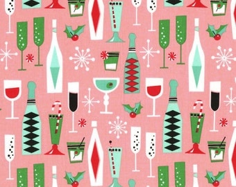 Michael Miller Fabric Holiday Party Pink