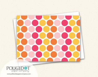 Notecards - Nesting Dots Sunset - Set of 8 with Envelopes