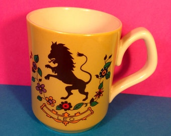 Vintage Star Sign Mug - Sadler - Zodiac Mug - Signs Of The Zodiac - Leo - Leo The Lion - Vintage Mug