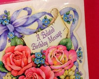 Belated Birthday Card - Happy Birthday - Belated