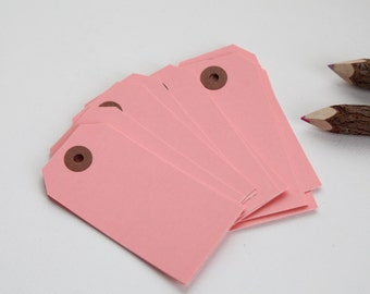25 - LIGHT PINK - MEDIUM Gift Tags, 3-3/4 x 1-7/8, Packing Tags, Shipping Tags, Holiday Tags, Favor Tags