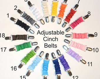 READY TO SHIP: Cinch Belt - Ladies Dress Clip - Toddler Belt - One Size Fits All
