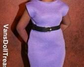 Dasia Clothing Violet High Neck Dress
