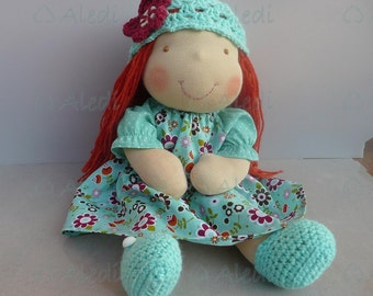 Red hair doll- 16 inch Waldorf style doll- READY TO SHIP