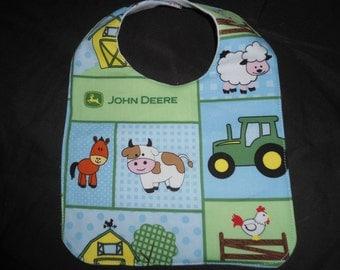 John Deere baby bib