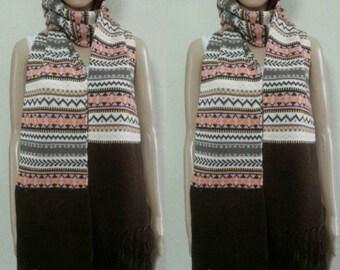 Scarf with  zipper poker wool knit Gift ideas winter