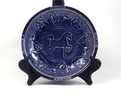 Horse Bowl Handmade Raku Pottery