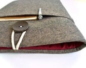 Brown Linen Kindle Cover with Pocket, Kindle Fire, Paperwhite Cover, Kindle Oasis, Custom Sizes Available