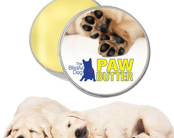 DOG PAW BUTTER™ All Natural Handcrafted Moisturizing Balm for Dry, Rough, Cracked Dog Paw Pads Choice 1oz, 2 oz or 4 oz Tin