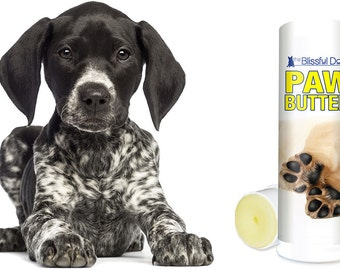 DOG PAW BUTTER All Natural Handcrafted Moisturizing Herbal Balm for Dry, Rough Dog Paw Pads .75 oz Twist-up Tube in Gift Bag