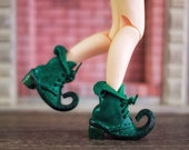Reserve for Josipa new Green onyx 1:6 scale leather elf boot