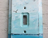 Beach Room decor Hand Painted Ocean Light Switch Cover / Switchplate , Decorative Wall Plate , Coastal Home