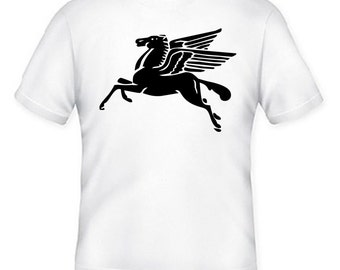 Pegasus Mythical Creature - T-Shirt Silkscreen Handmade Graphic Tees Tshirt Children Youth Women Men S-M-L-XL Shirt