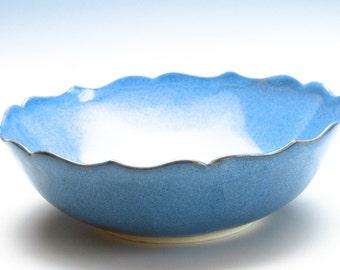 Sky  Blue Lotus Ceramic Bowl/ Fruit Bowl/ Serving Bowl