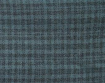 Plaid bleu primitif - laine feutrée tissu Cour laine parfait pour Rug Hooking, Applique et métiers quilting Acres